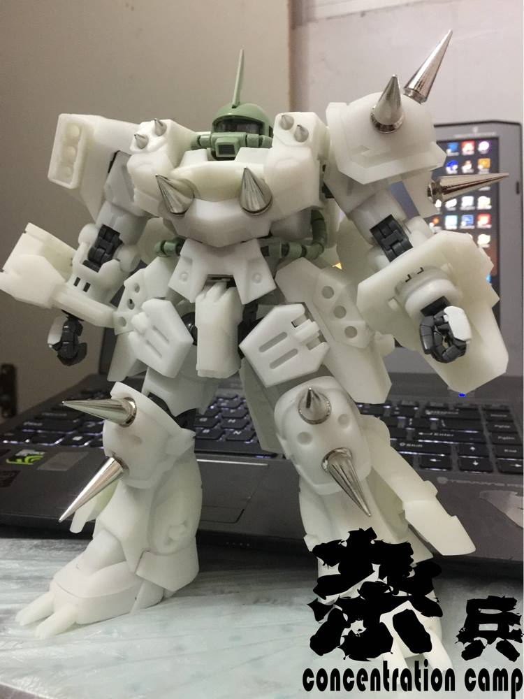 MG Super Custom Zaku F2000 Conversion parts