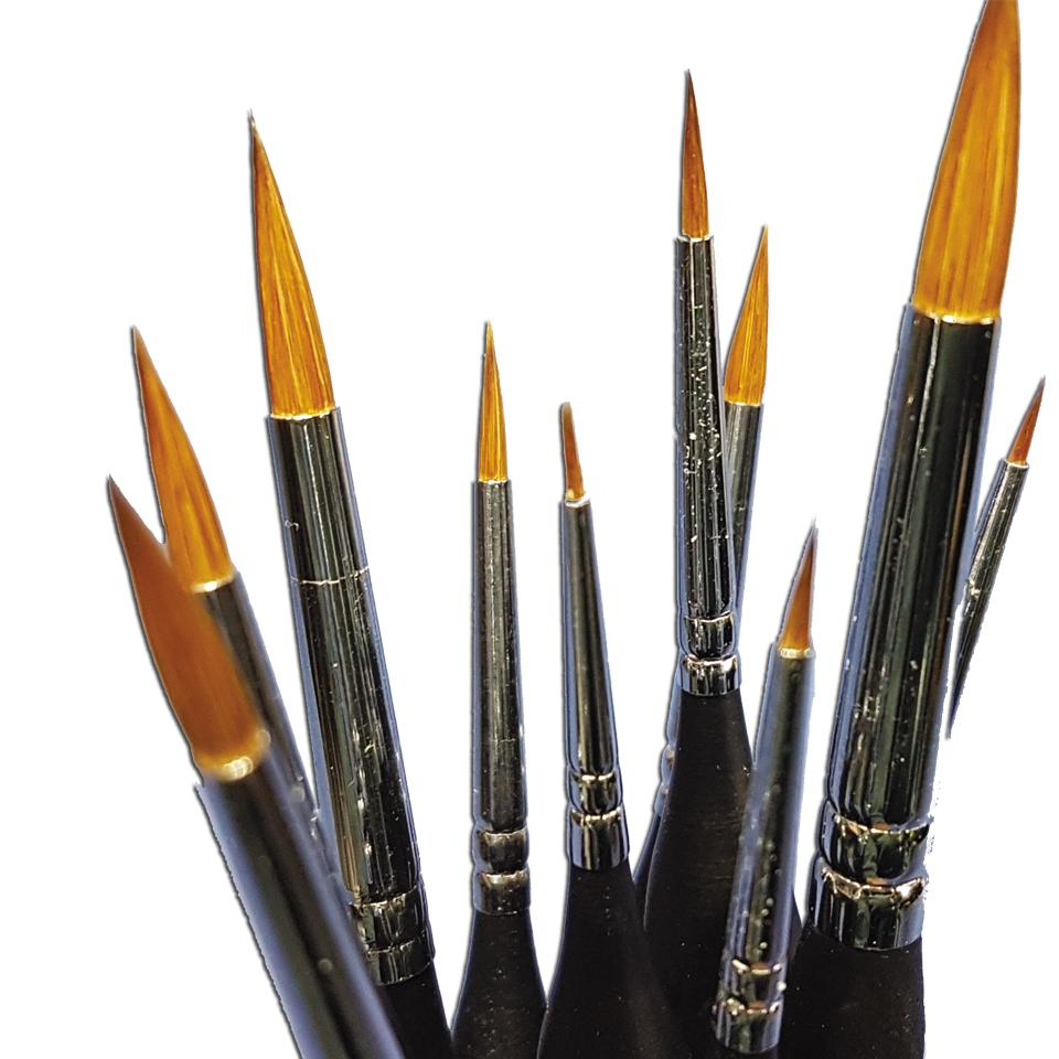 Sable 10x BRUSH SET (Contains BRSH01-10)