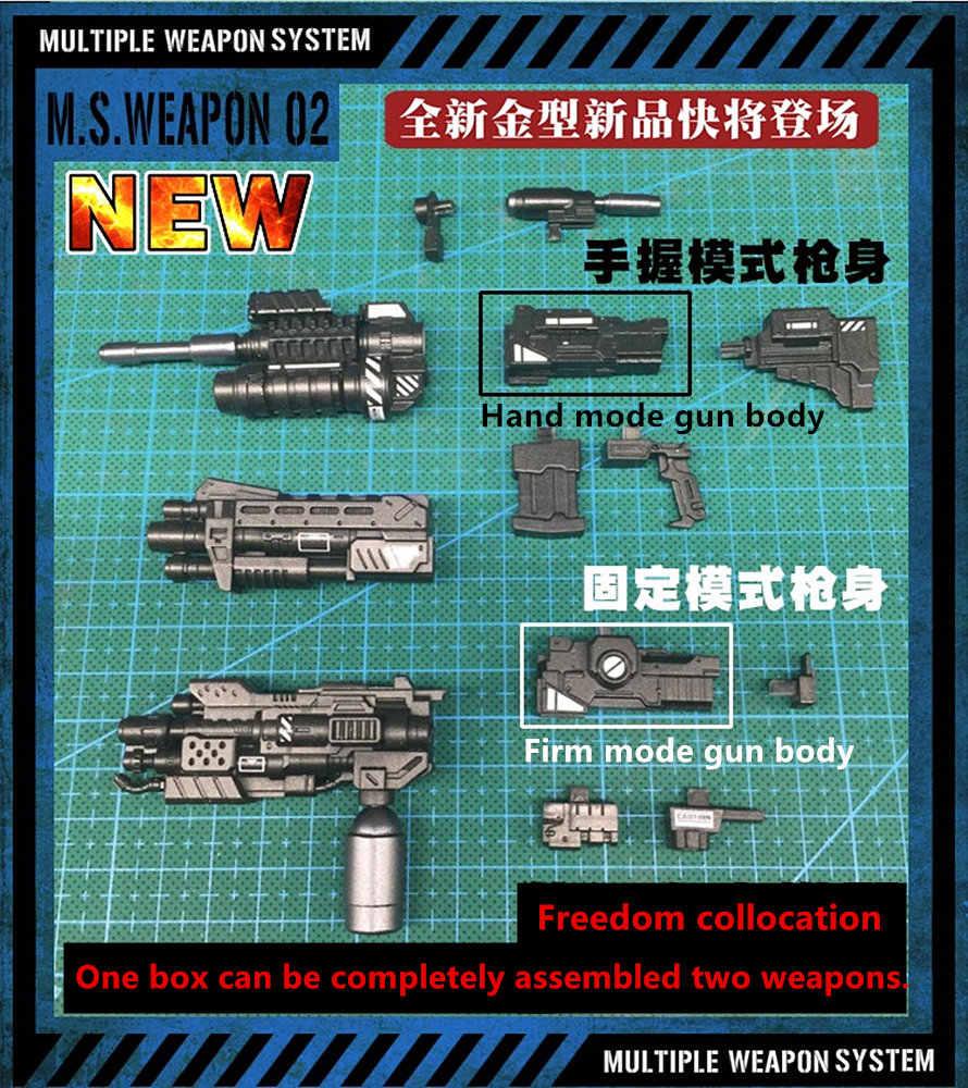 MS Weapon 02 Shotgun Flamethrower Laser Gun Rocket Launcher
